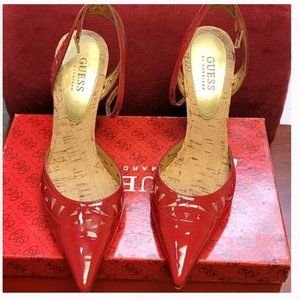 Like new  Red Guess Heels Size 7.5